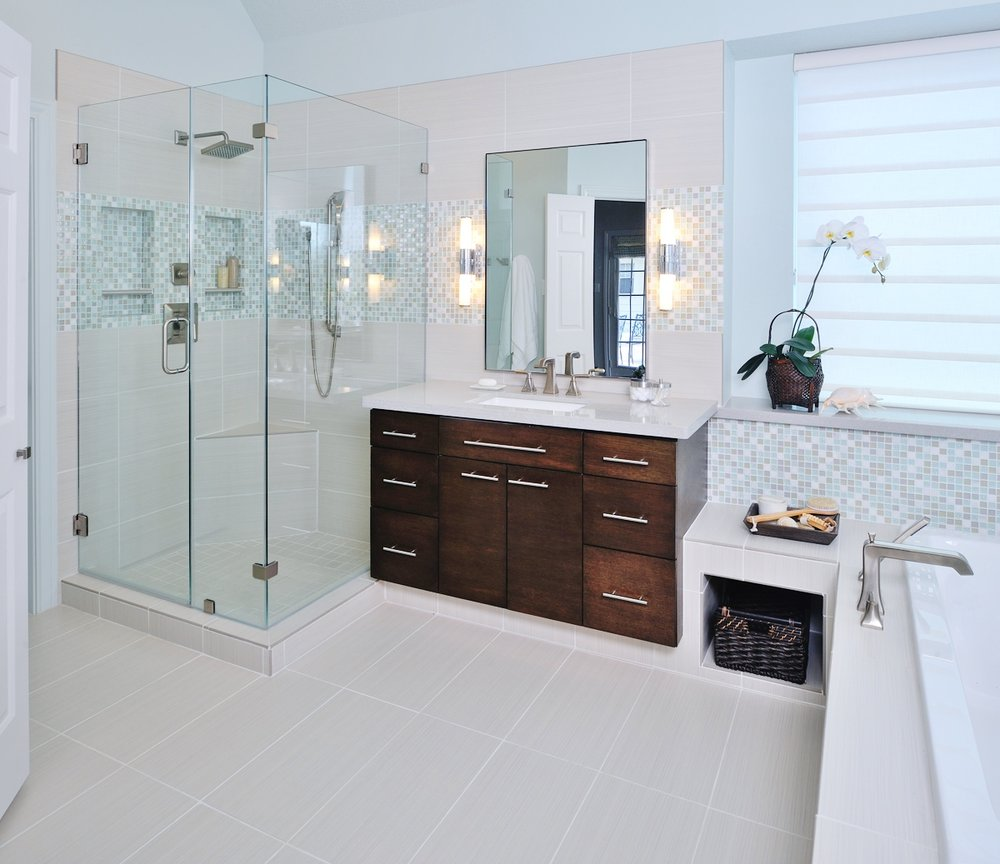 Make a small bathroom look and feel bigger - Bathroom ...